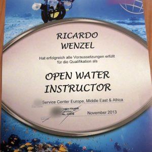 open water instructor certification