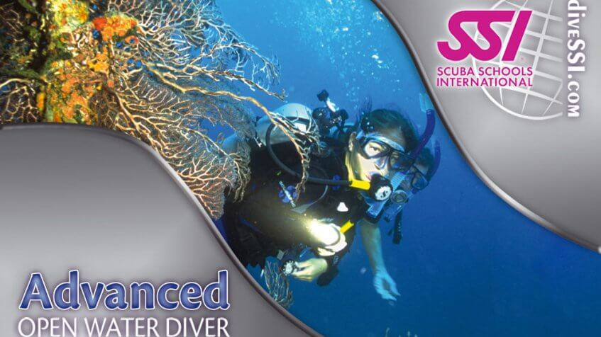 SSI advanced open water diver certification