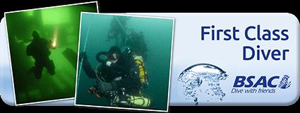 BSAC First Class Diver