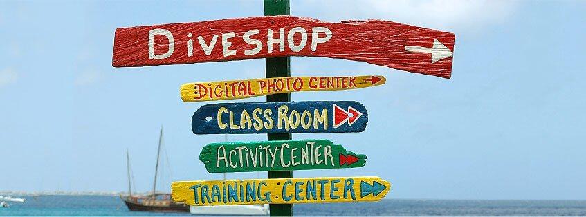 diving school signs