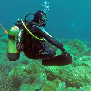 tank strap diving equipment