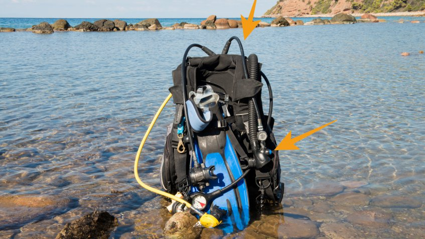 scuba diving inflator