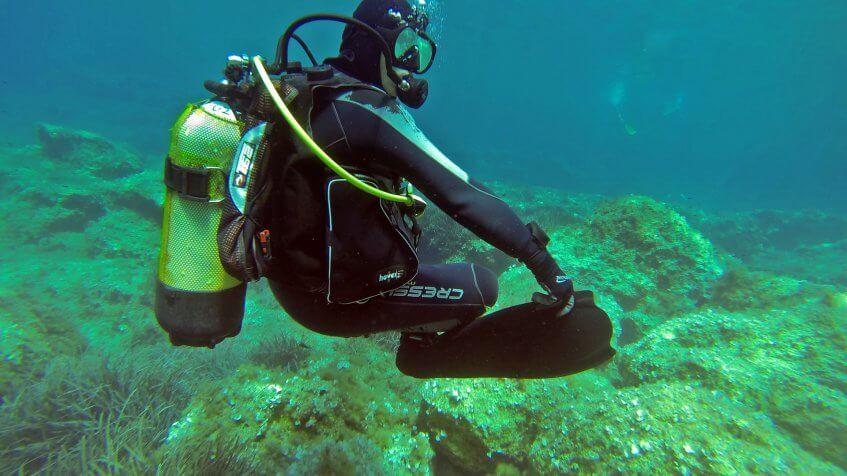 neutral buoyancy scuba diving