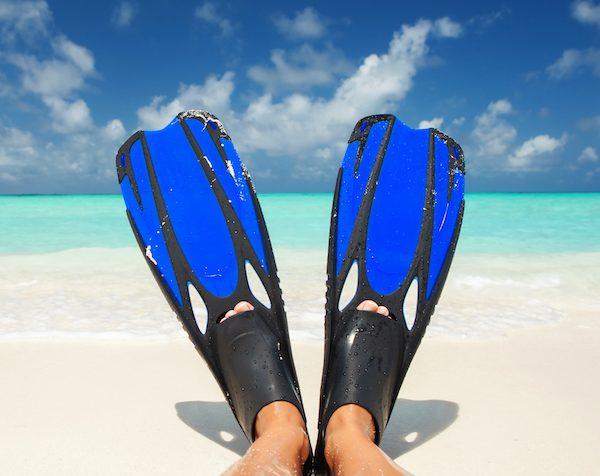 full foot fins scuba diving