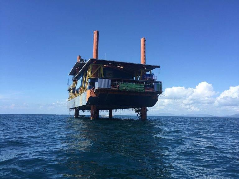 Diving off Miris Coast